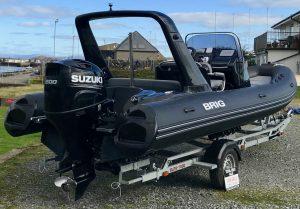 BRIG Eagle 650 Carbon Black with Suzuki Outboard